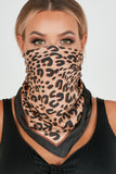 Liz Black and Gold Animal Print Scarf