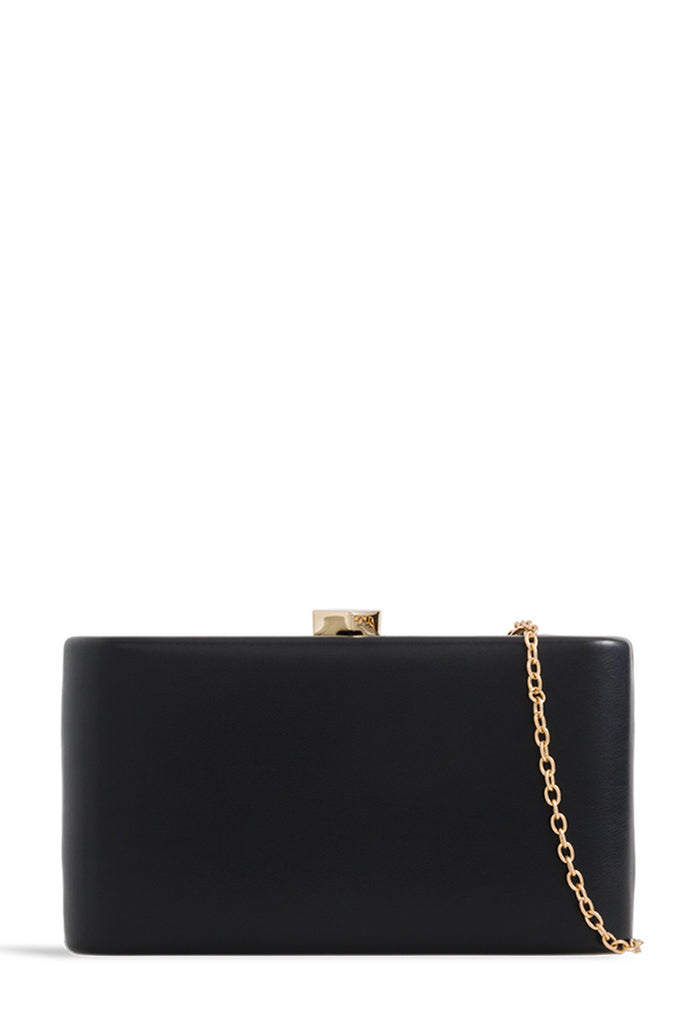 Lorelle Black Leatherette Box Bag (1603329982530)
