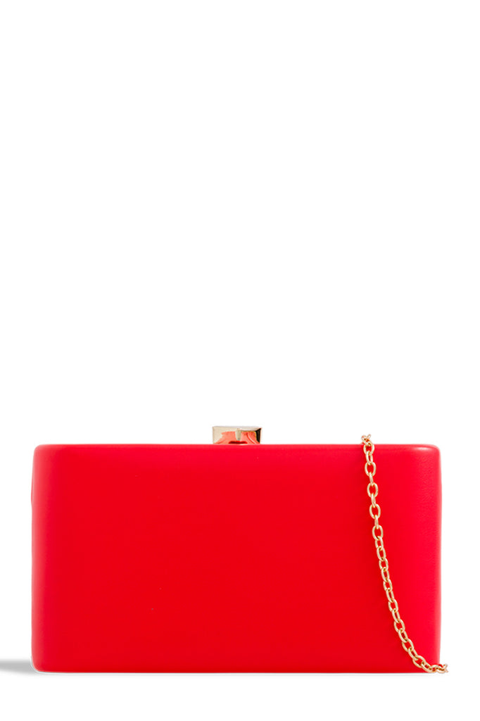 Lorelle Red Leatherette Box Bag