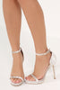 Lottie Champagne Velvet Barely There Sandal