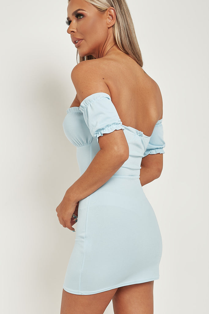 Louisa Powder Blue Milk Maid Mini Dress