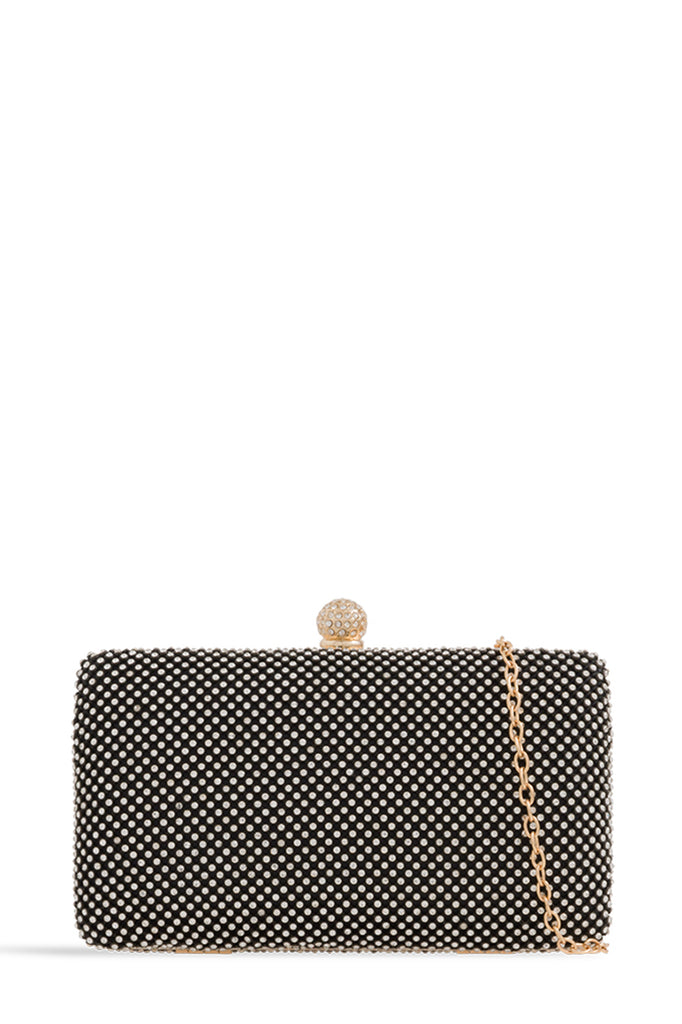Luanda Black Diamante Structured Clutch (1618383110210)