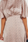 Lucia Pink Polka Dot Satin Skater Dress