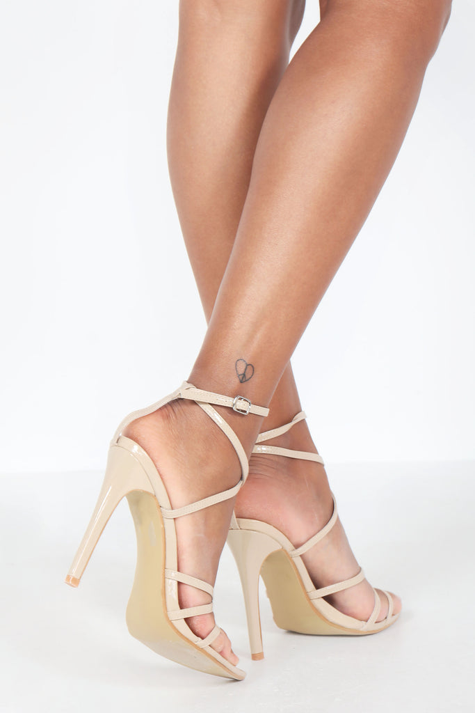 Marika Nude Patent Strappy Sandal