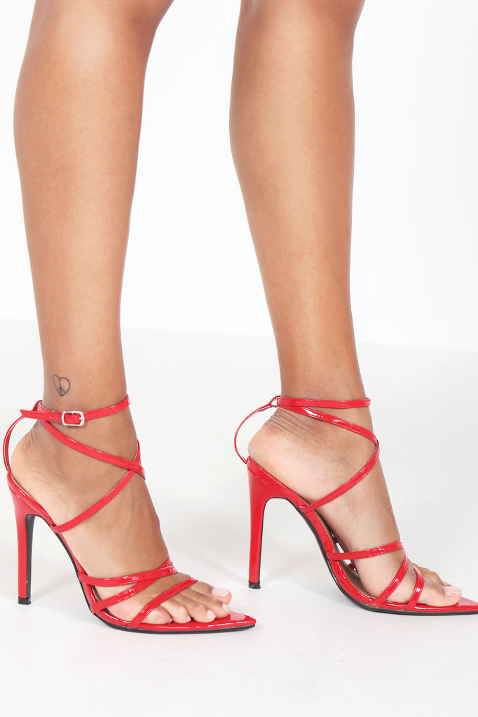 Marika Red Patent Strappy Sandal (1306521796716)