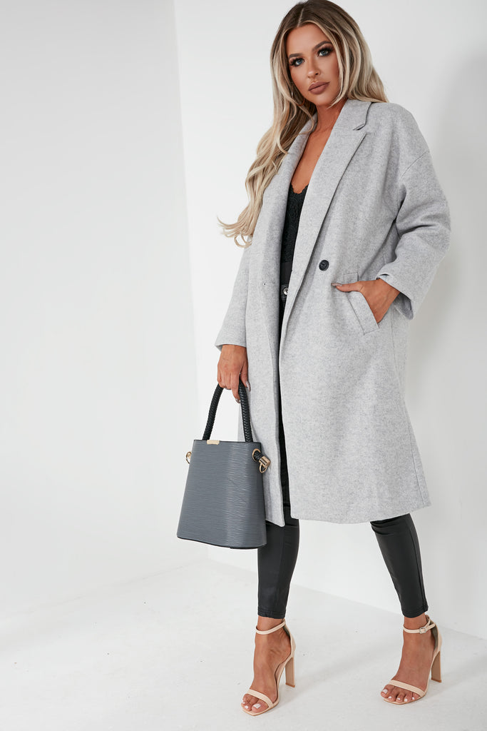 Marina Grey Oversized Longline Coat