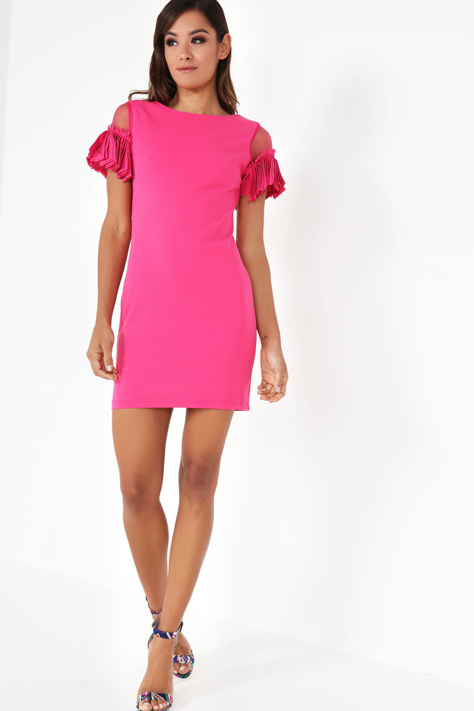 Mary-Jane Pink Fringe Sleeve Dress  6387ca0d9c