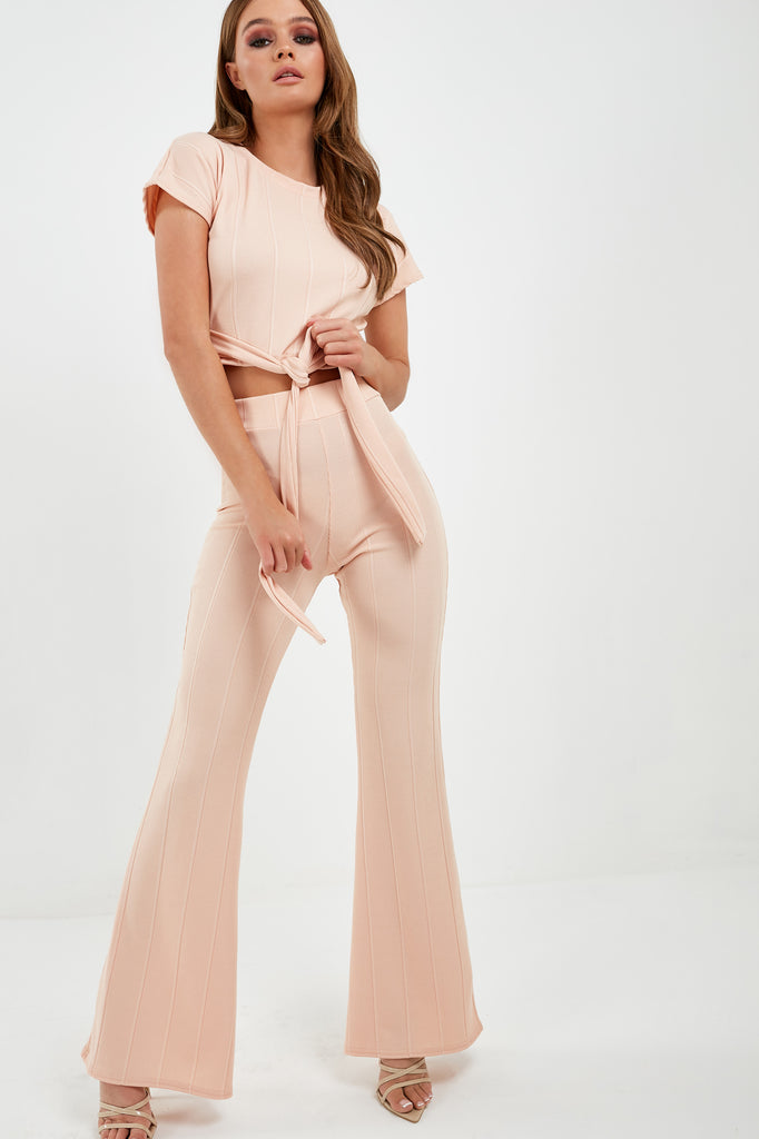 Mary Nude Ribbed Trouser Co Ord (1875329810498)