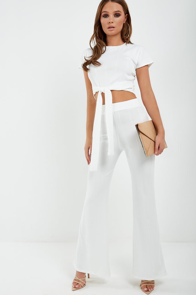 Mary Cream Ribbed Trouser Co Ord (1875332137026)