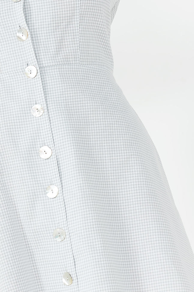 Melinda Grey Gingham Tea Dress