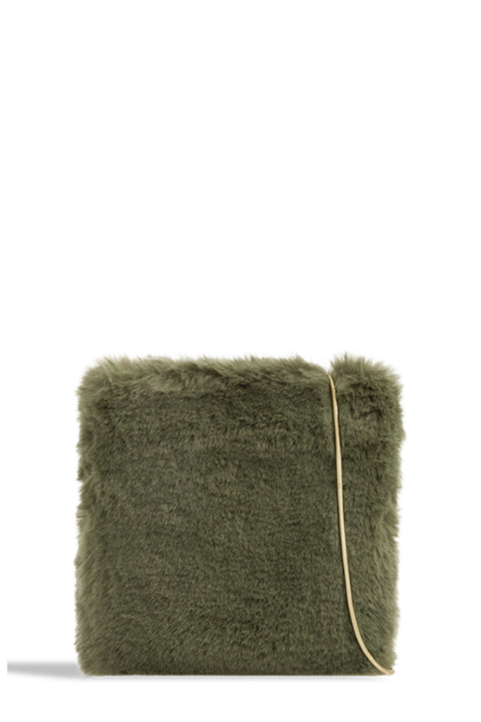 Millicent Green Faux Fur Cross Bodybag