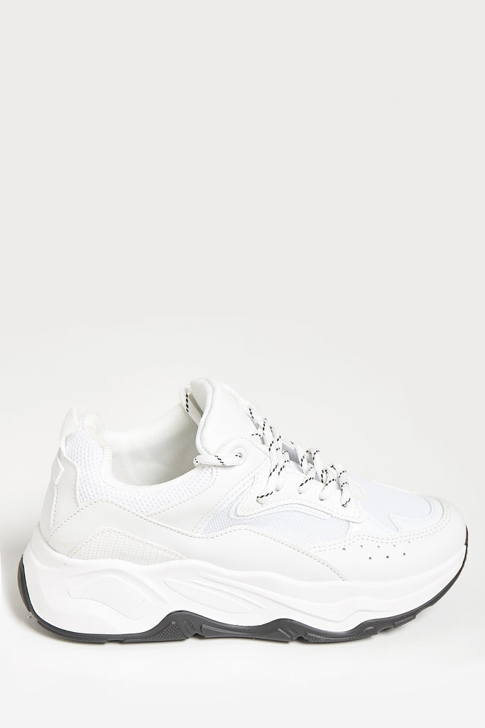 Minnie White Panel Chunky Trainers