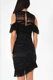 Monica Black Frill Dress