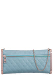 Nadia Mint Leatherette Quilted Clutch Bag (5802743109)