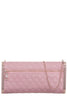 Nadia Pink Leatherette Quilted Clutch Bag
