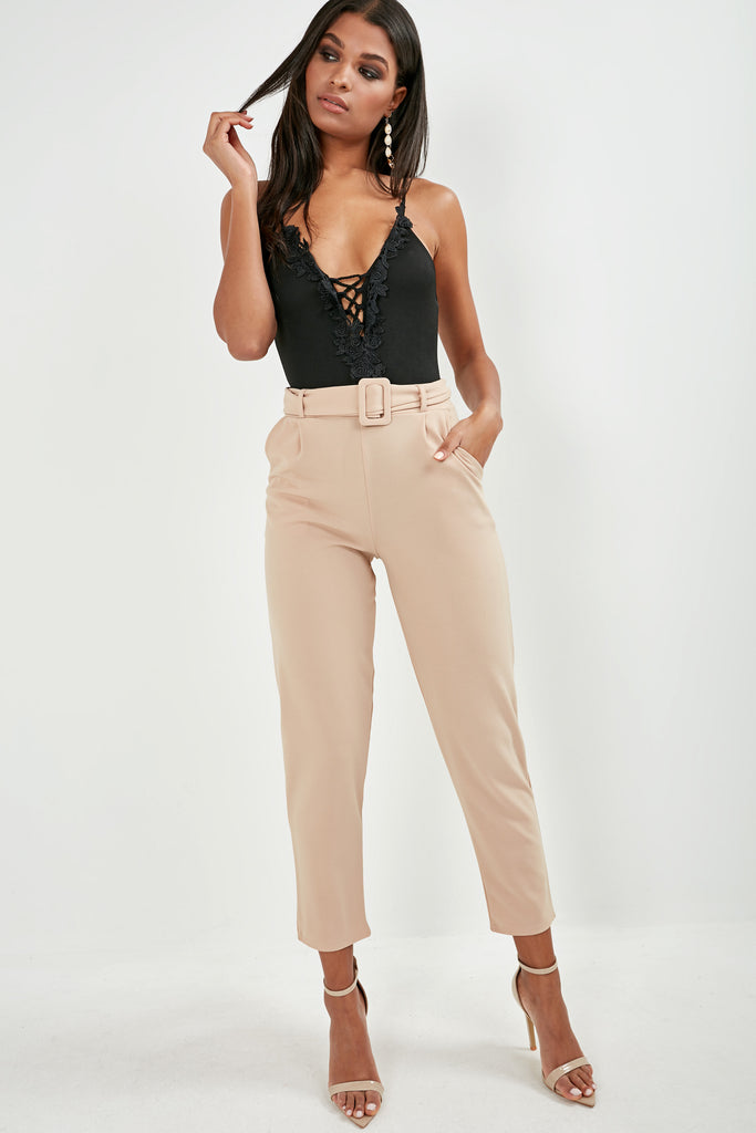 Natia Stone Belted Trousers (1777371086914)
