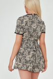 Natz Stone Spotted Print Playsuit