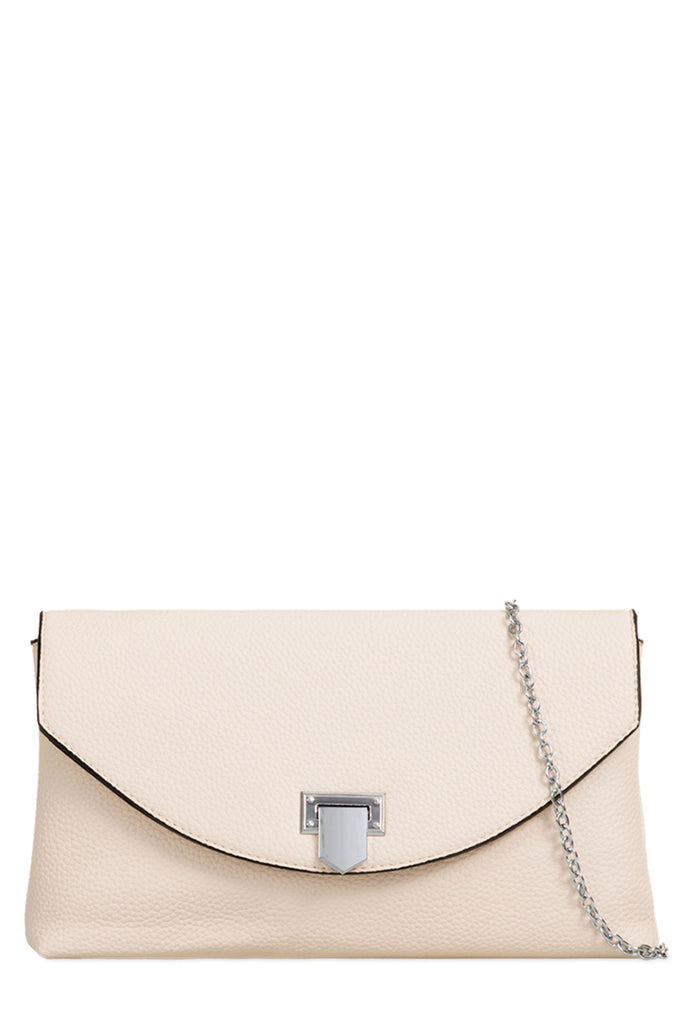 Nelly Beige Textured Clutch Bag (18887573520)
