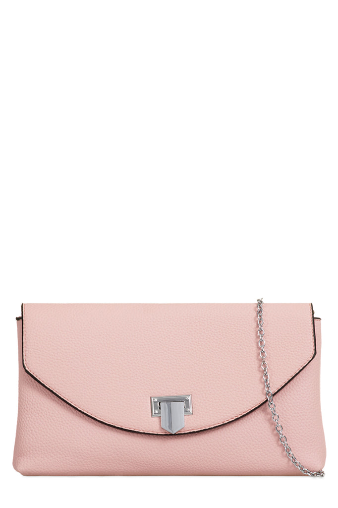 Nelly Pink Textured Clutch Bag (18885279760)