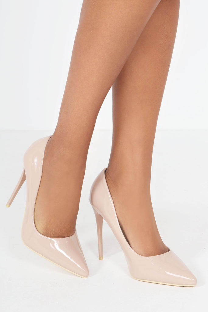 Nolita Beige Patent Pointed Stiletto