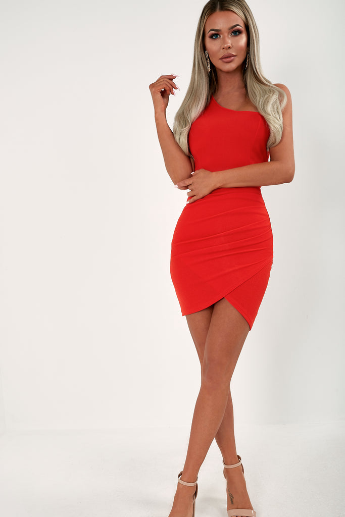 Nolly Scarlet One Shoulder Mini Dress