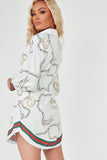 Norah White Chain Print Shirt Dress