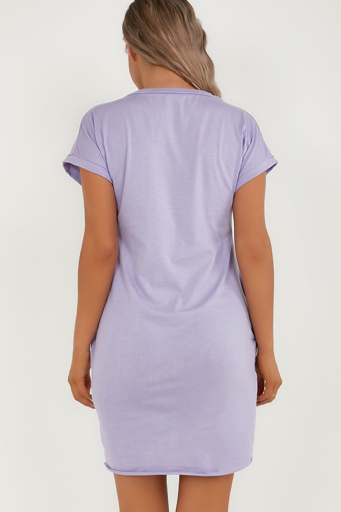 Nori Lilac Ye Saint Love T-Shirt Dress
