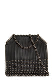 North Black Studded Tassel Bag