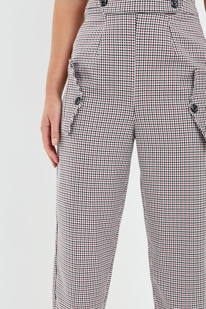 Oakley Pink Check Paperbag Trousers