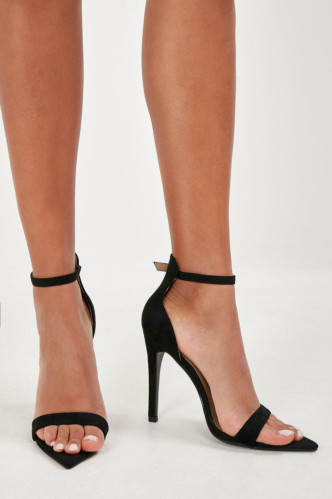 Olga Black Point Toe Sandals (1759464259650)