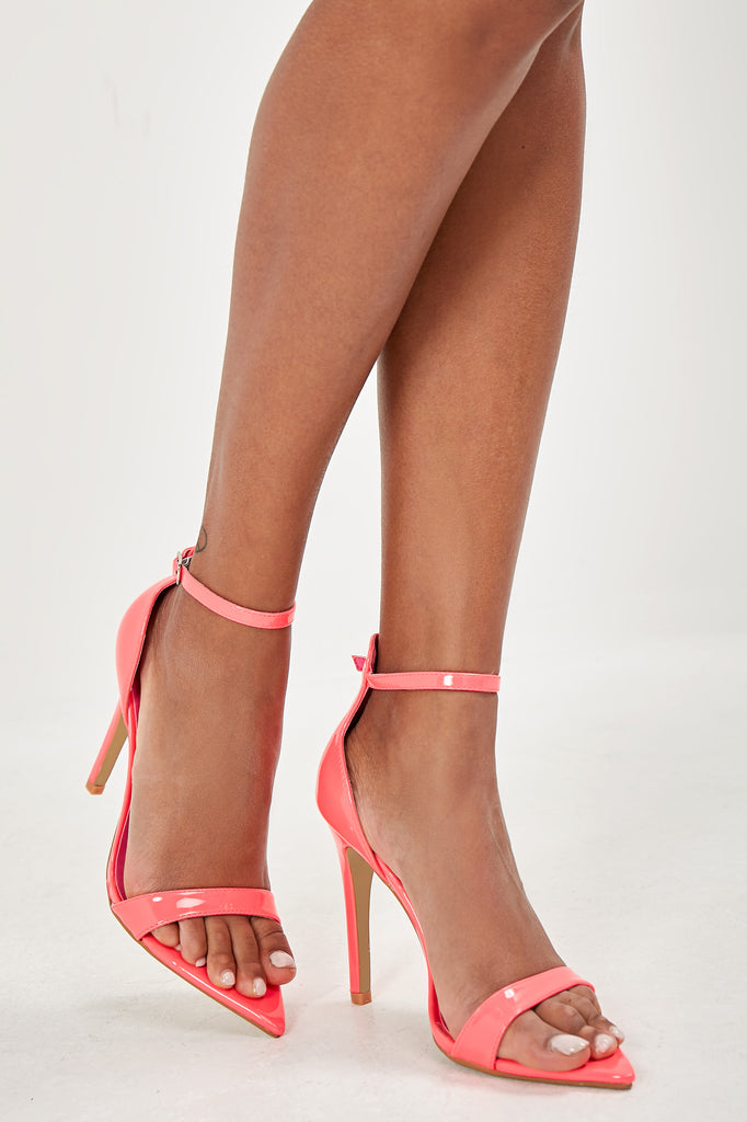 Olga Neon Pink Point Toe Sandals