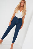 Olive Indigo Basic High Waist Jeans