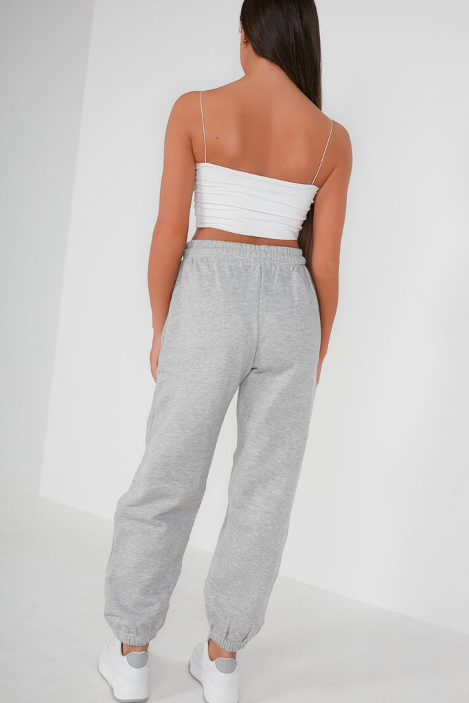 Olivia Light Grey Over Sized Joggers