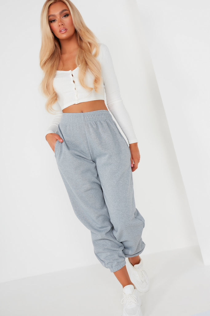 Olivia Marl Grey Over Sized Joggers