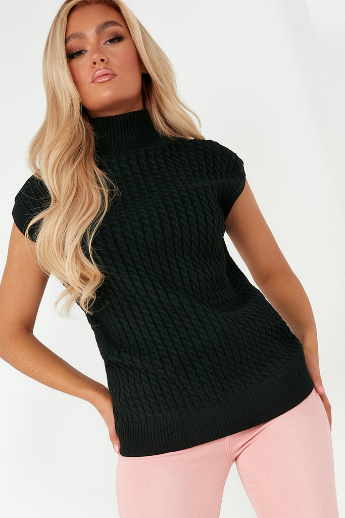 Oonagh Black Knit Pullover