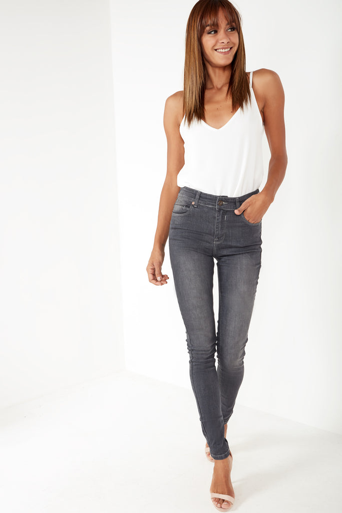 Orion Black Washed Skinny Jeans