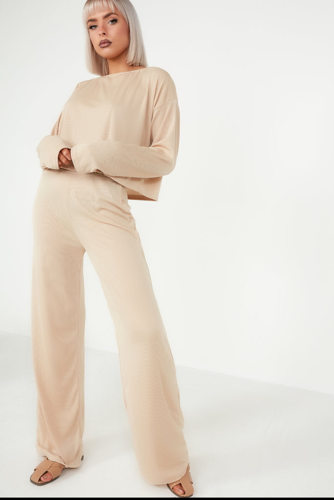 Orna Nude Ribbed Co Ord