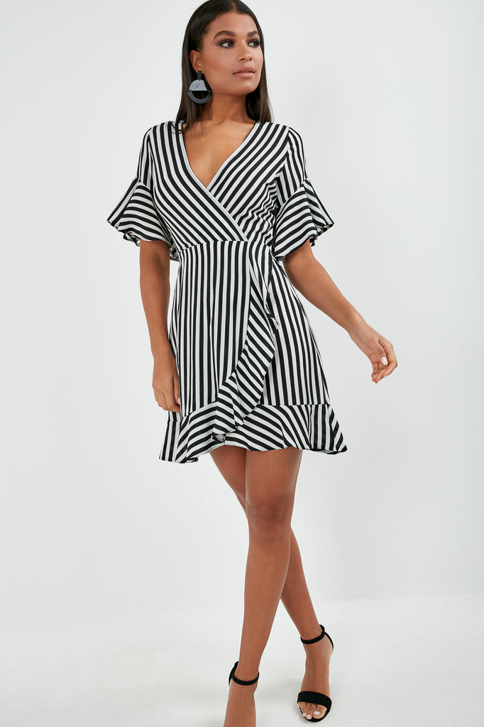 ovana-monochrome-striped-wrap-dress