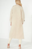 Pam Cream Faux Wool Duster Coat