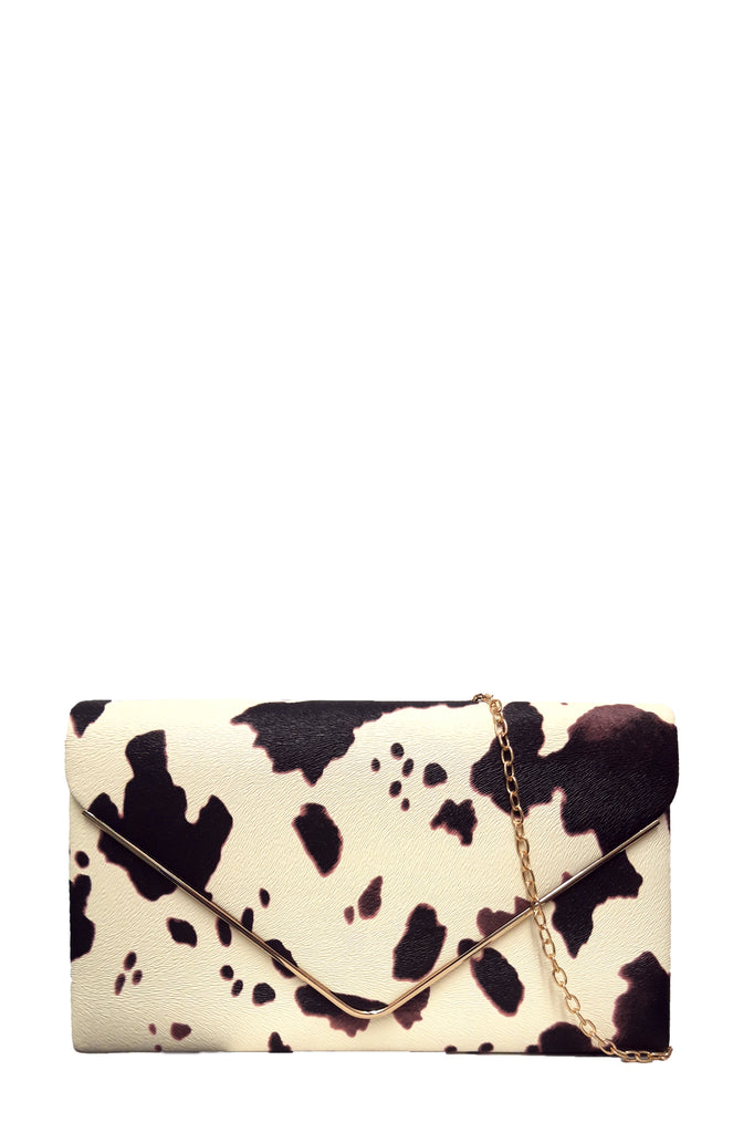 Pamela Leatherette Pony Skin Clutch