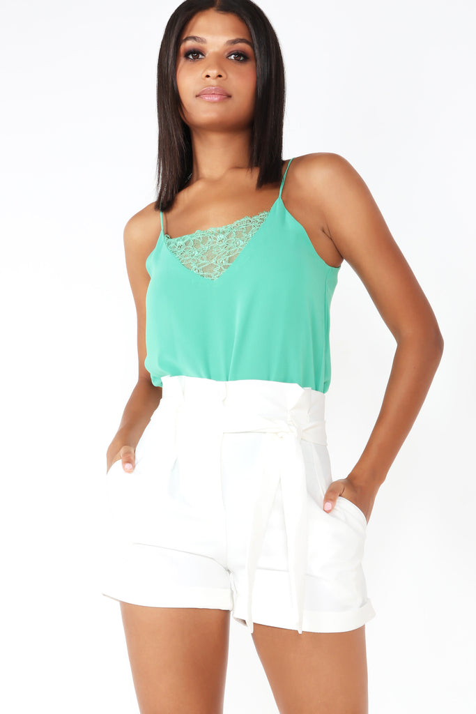 Pandora Green Lace Camisole Top