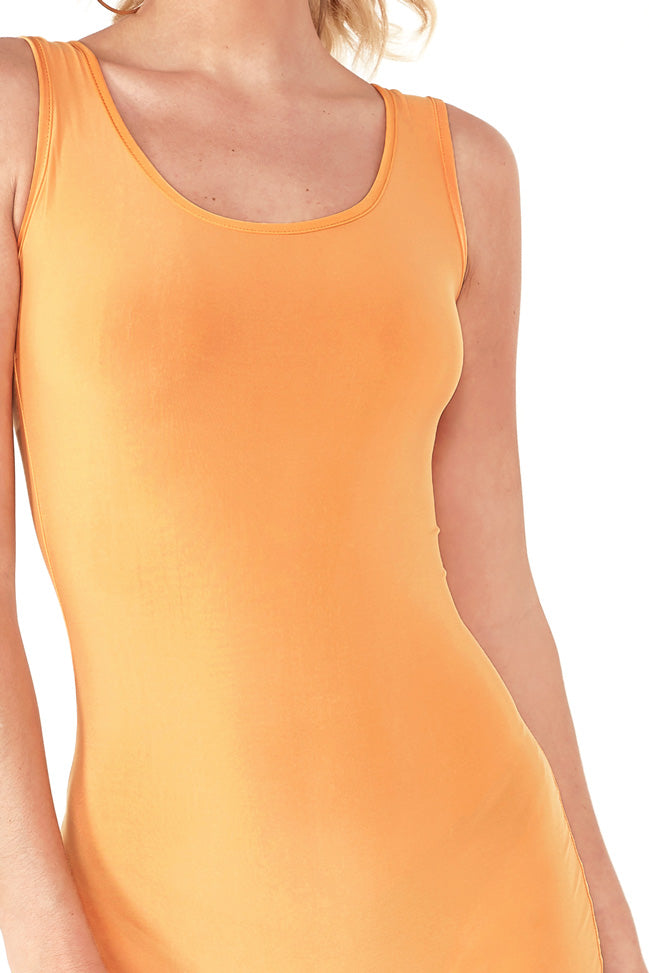 Parisa Orange Slinky Unitard (1468580462658)