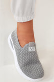 Patrina Grey Mesh Slip On Trainers