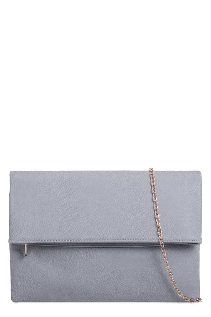 Pattie Grey Large Leatherette Clutch (8431406544)