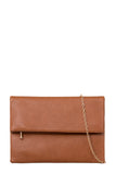 Pattie Tan Large Leatherette Clutch