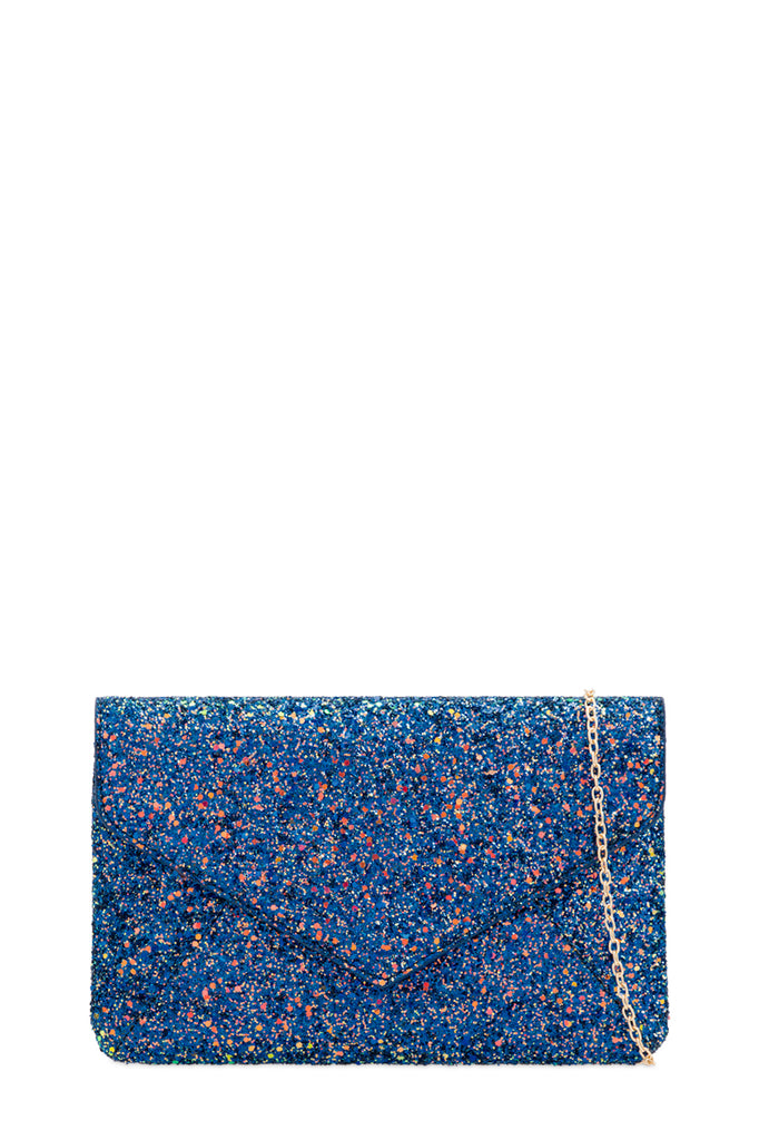 Peggy Royal Blue Iridescent Glitter Bag