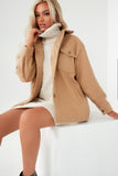 Penelope Camel Button Front Shacket
