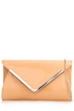 Penny Nude Patent Envelope Clutch Bag (1921262485570)