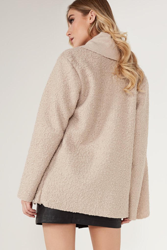 Peppi Beige Wool Coatigan