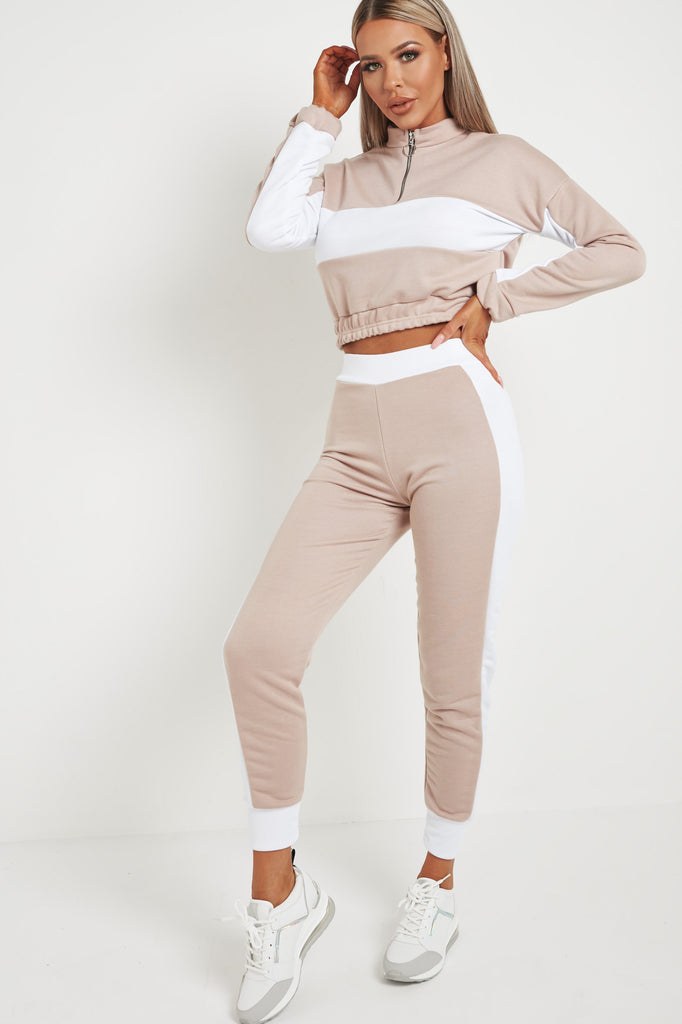 Perla Stone Colour Block Jogger Co Ord